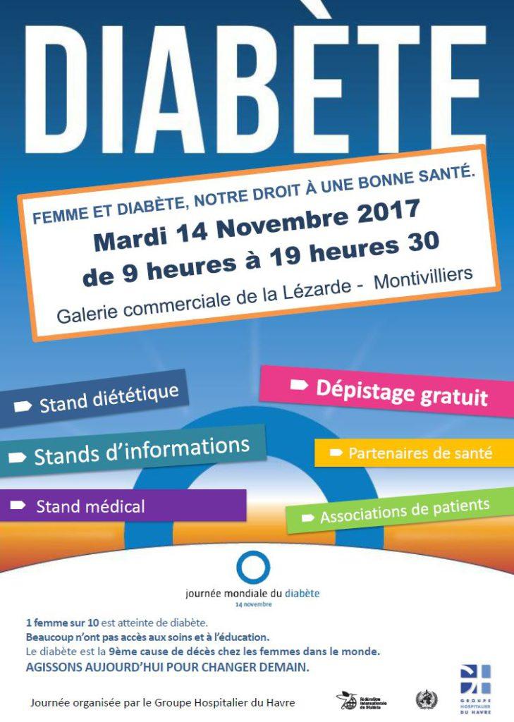 Animation Le Havre - Montivilliers - Journée mondiale du diabète